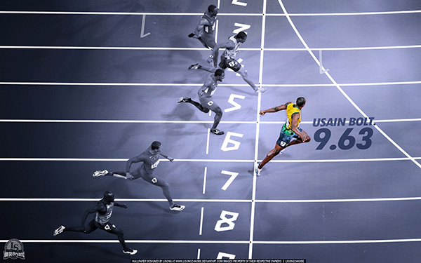 It's worth noting Bolt has since broken the 100m sprint record multiple times, currently holding at 9.58 seconds
